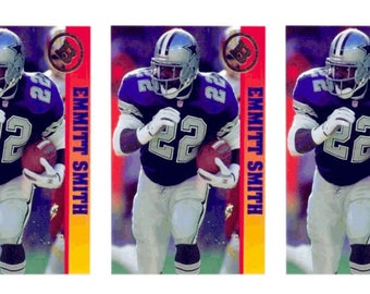 5 - 1993 Ballstreet Emmitt Smith Version 1 Football Card Lot Dallas Cowboys