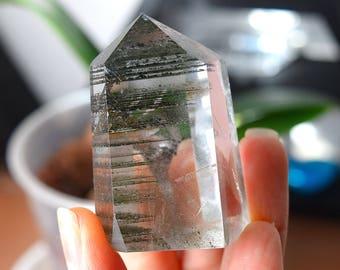 Lodolite Quartz Crystal, Lodolite Point, Garden Quartz, Included Quartz, Scenic Quartz, Shamanic Quartz, VERY BEAUTIFUL- 7c