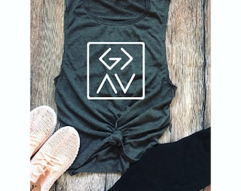 God Is Greater Than The Highs And Lows/Ladies Muscle Tank/ Ladies Top/ Gym Shirt/ Yoga Tank/ Gift Ideas/ Funny Tank