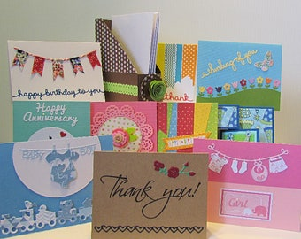Greeting Card Assortment,  Card Holder, Thank You Cards, Birthday Cards, Gift Card Assortment, Baby Cards, Get Well Cards, Happy Anniversary