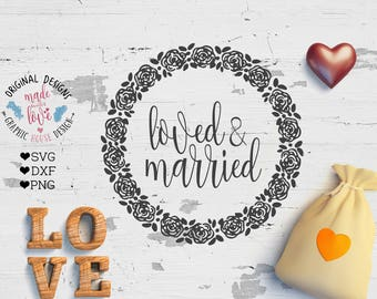 wedding svg, married svg, love svg, marriage svg, husband and wife svg, groom svg, bride svg, svg files, cutting files, silhouette cameo
