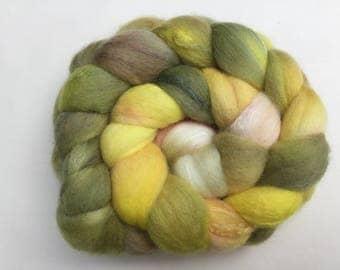 Hand painted 70/30 Merino/Tussah silk tops