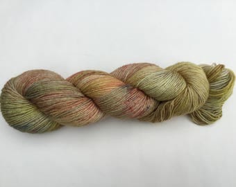 Hand dyed 4ply Sock wool - Blueface Leicester superwash/Bamboo