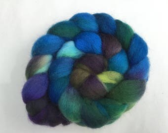 Hand Dyed Kent Romney wool tops