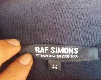 Rare Raf simons autum winter collat long sleeve shirt turtle neck half button/44 size/black