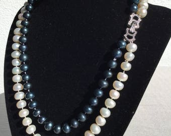 Knotted Freshwater Pearls Classic Necklace
