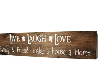 Live laugh love sign,Anniversiary Gift, inspirationa,home decor,love sign,rustic wall decor,French country, Bedroom Love Sign, Housewarming