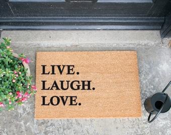Live Laugh Love doormat - 60x40cm - Novelty - Gift