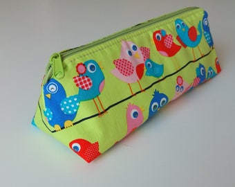 Pencil Case, Writing Case, Case, Design: Happy Birdies - back to school, first school day