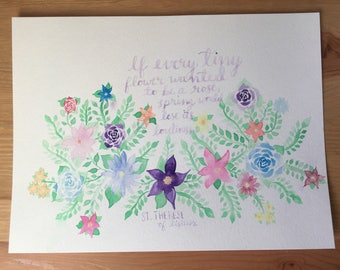 St. Therese Flower Watercolor