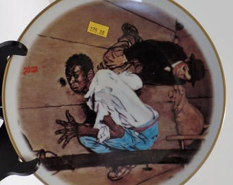 """Vintage Norman Rockwell """"Listening"""" Collector's Plate"""