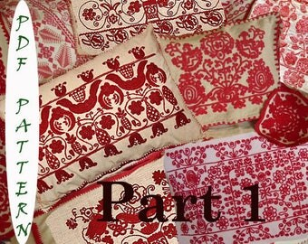 4 Hungarian Transylvanian vintage embroidery patterns