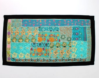 Handmade Embroidered Patchwork Placements Table Top Runner Home Decor Tribal Tropical Ethnic Hippie Hippy Boho Gypsy Dorm Decor D911