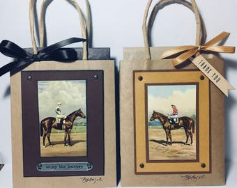 Thoroughbred Gift Bags, Race Horse Gift Bags, Horse Gift Bags, Horse Racing, Horse Lover