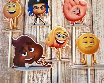 The Emoji Movie Cupcake Toppers