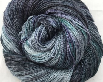 It's Always After Eight - Superwash Blue Faced Leicester, Silk & Cashmere Splendiferous Sock 100g
