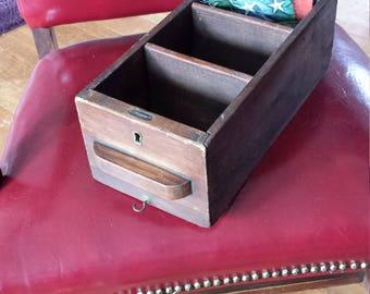 Vintage wooden desk drawer