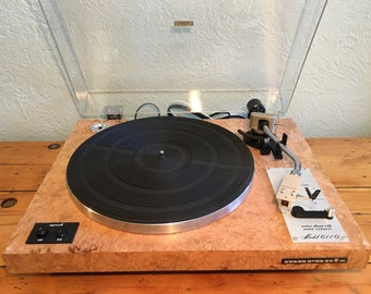 Marantz 6110 Turntable Handmade Chestnut Burl Veneer Audio Technica AT71E Cartridge New Stylus Vintage Hi-Fi Record Player Phono Phonograph