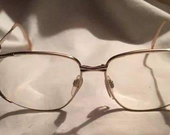 Adensco Ashley gold metal frame eyeglasses glasses 57 15  130 0028 made In Italy gramdma