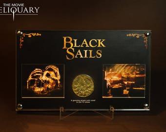 Black Sails pirate treasure coin display