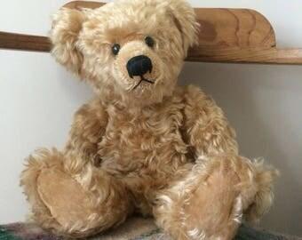 Vintage Mohair Bear, Vintage Teddy Bear, Vintage Bear, Mohair Teddy Bear, Collectable Toy, Old Teddy Bear, Old Bear, Vintage Teddy, Mohair
