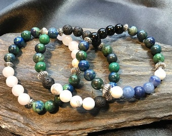 Intrigue, Mystery and Enlightenment Azurite Gemstone Bracelet