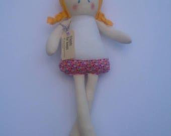 Ella - Handmade Doll - Cloth Doll - Fabric Doll - Rag Doll