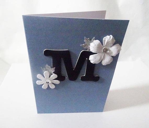 "Monogram/Initial Card - Letter ""M"""