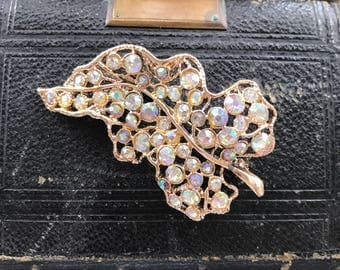 Gorgeous leaf design brooch