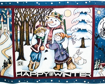 Mary Engelbreit Happy Winter tapestry wall hanging