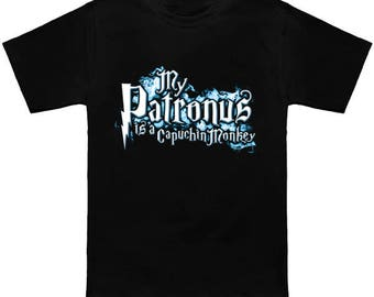 My PATRONUS Is A CAPUCHIN MONKEY Custom T-Shirt Magic Animal Charm Fantastic Beasts Wizard Spell Fantasy Shirt