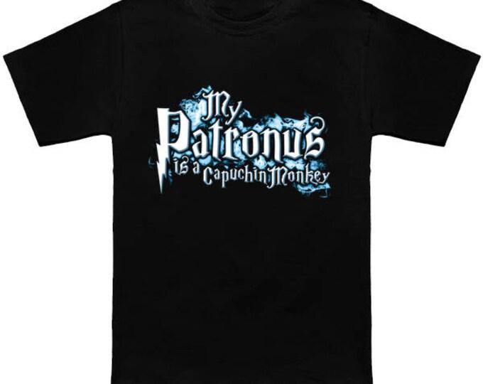 My PATRONUS Is A CAPUCHIN MONKEY Custom T-Shirt Magic Animal Charm Fantastic Beasts Wizard Spell Fantasy Shirt