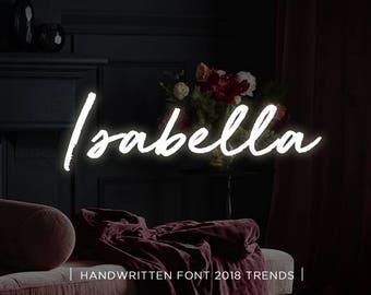 Isabella digital font download, Calligraphy font, Digital font, Wedding font, Handwritten font, Download digital font, Swirly font, Script