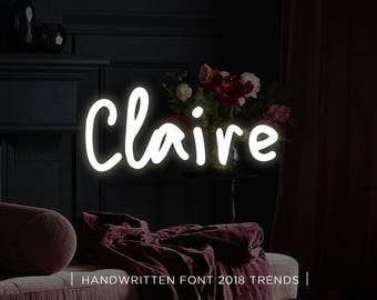 Claire digital font download, Calligraphy font, Digital font, Wedding font, Handwritten font, Download digital font, Swirly font, Script