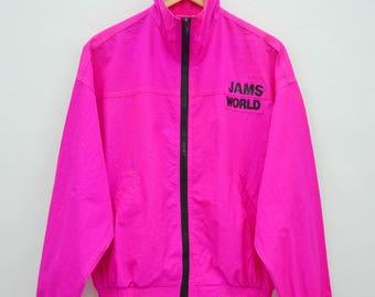 JAMS WORLD Sweater Vintage 90's Jams World Made In USA Honolulu Hawaii Usa Surf Line Hawaii Zipper Jacket Sweater Size S