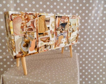 "Mini chest of drawers ""Or"""