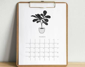 Printable 2018 Plant Calendar