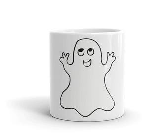 Ghost Mug -  Ghost Cup - Halloween Ghost Coffee Mug -