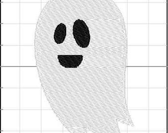 Fill Embroidery Design, Halloween Ghost 5, File, Digital, Download, Machine