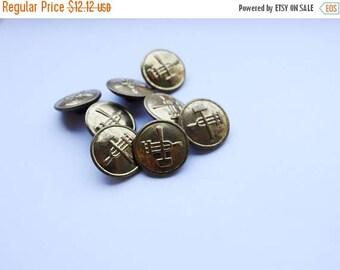 ON SALE USSR Buttons Hammer And Sickle Proletarian Communist Symbol Marxism Soviet Union Socialism Buttons Gold Unique Blazer Buttons Soviet