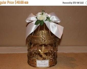 ON SALE Wedding Birdcage Cardholder / Gold Wedding Birdcage / Wedding Cardholder