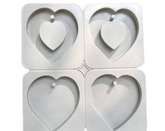 Wax Sachet Silicone Mold - Heart Shape Mold for Aroma High Stone