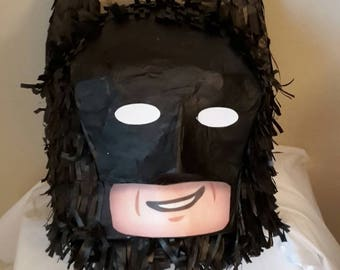 Lego Brick Head batman Piñata. Handmade. New