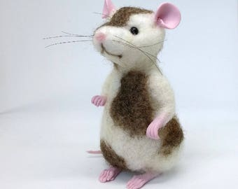 Mouse, needle felted mouse, wool sculpture, mice ornaments, woodland creatures, needle felted animal