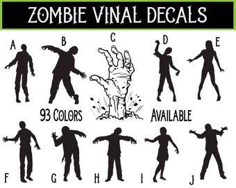 Vinyl Zombie Decal / Zombie Sticker / Zombie Decal / Zombie Car Decal / Walking Dead Decal / Zombie Family Decal / Zombie Laptop Decal