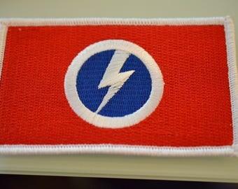 Sir Oswald Mosley's British Union of Fascists (B.U.F.) Flag Tri-color/Bolt Patch