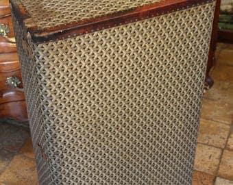 French vintage 1950s valise Goyard, Goyard suitcase, Mid century french valise Goyard, French vintage luggage Goyard, Leather luggage Goyard