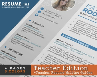 Post Your Resume Word Teacher Resume  Etsy Sunday School Teacher Resume with Sales Resume Template Teacher Resume Template  Cv Template Page Word Resume Design With Cover  Letter Resume For Warehouse Worker Excel