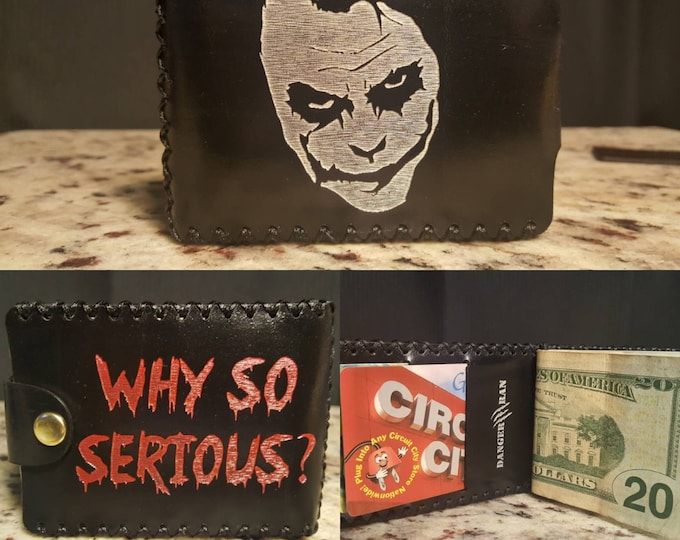 Why So Serious Premium English Bridle leather Wallet