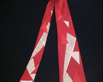 1950's Men's Neck Tie / British Cravat - A Brick Print.